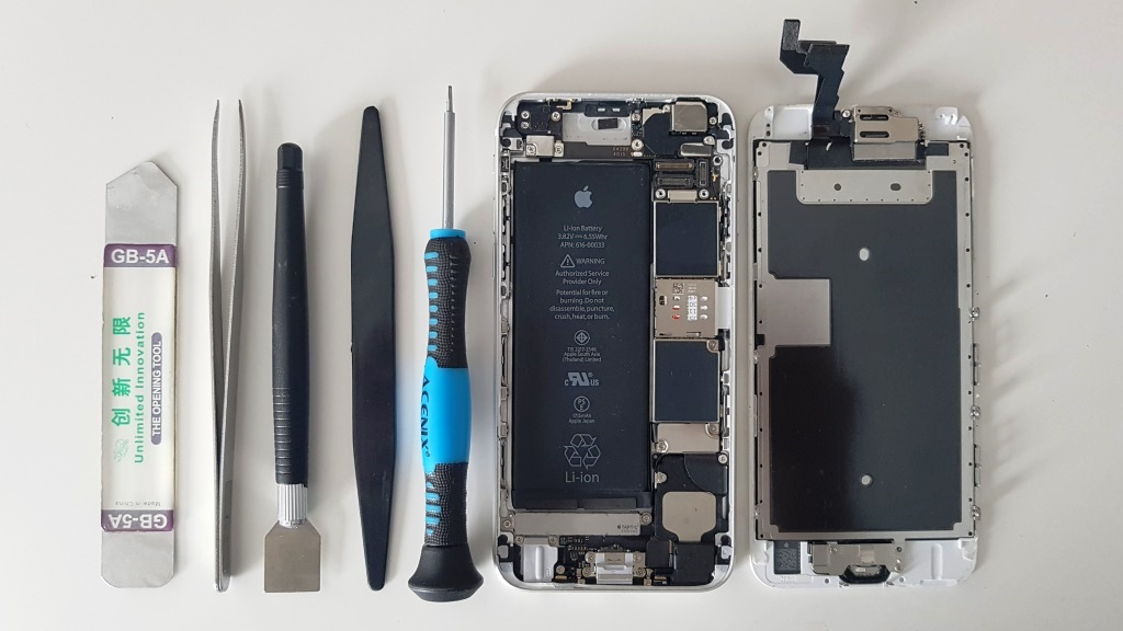 opened iphone